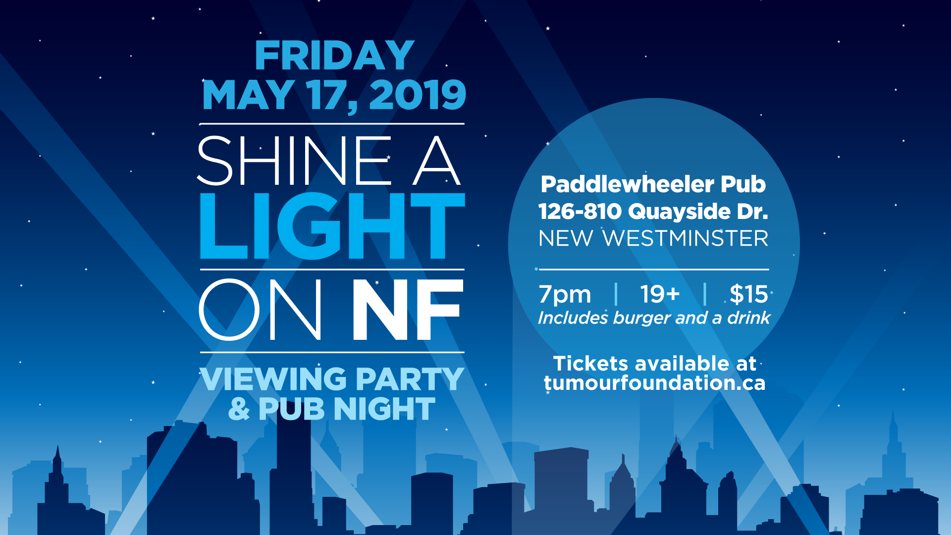 Shine a Light on NF Viewing Party - Tumour Foundation of BC
